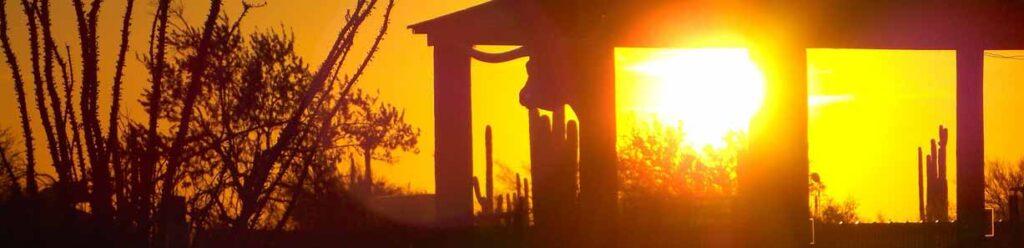The hot Arizona sunset